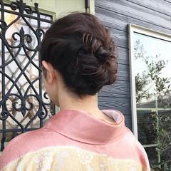 ミディアム 結婚式ヘアアレンジ ナチュラル ヘアセット ヘアスタイルや髪型の写真・画像