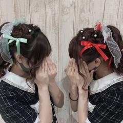 リボンアレンジ ポニーテールアレンジ ロング コンサート ヘアスタイルや髪型の写真・画像