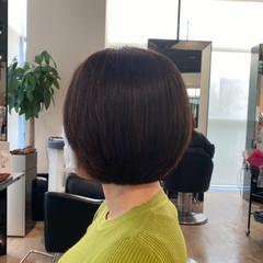 ボブ ナチュラル ノースタイリング 艶髪 ヘアスタイルや髪型の写真・画像