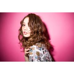 グラデーションカラー ミディアム ハイライト 大人かわいい ヘアスタイルや髪型の写真・画像