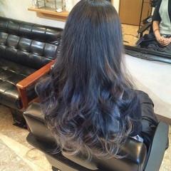 ロング ストリート ブルージュ ダブルカラー ヘアスタイルや髪型の写真・画像