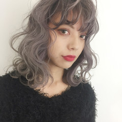 ストリート ダブルカラー グラデーションカラー ミディアム ヘアスタイルや髪型の写真・画像