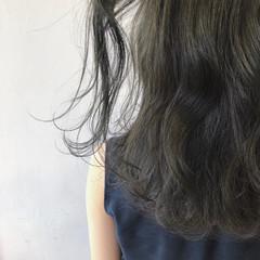 ブルーアッシュ 就活 ナチュラル グレージュ ヘアスタイルや髪型の写真・画像
