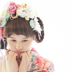 ヘアアレンジ ロング 袴 謝恩会 ヘアスタイルや髪型の写真・画像