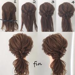 結婚式 簡単ヘアアレンジ ゆるふわ ウェーブ ヘアスタイルや髪型の写真・画像