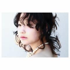 外国人風 ストリート ウルフカット ミディアム ヘアスタイルや髪型の写真・画像