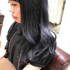 透明感 秋 セミロング ブルージュ ヘアスタイルや髪型の写真・画像