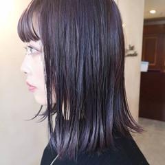 パープルアッシュ パープルカラー ダブルカラー N.オイル ヘアスタイルや髪型の写真・画像