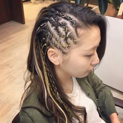 ストリート コーンロウ 黒髪 暗髪 ヘアスタイルや髪型の写真・画像