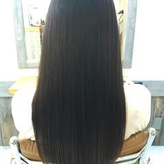 ロング トリートメント ナチュラル アッシュ ヘアスタイルや髪型の写真・画像