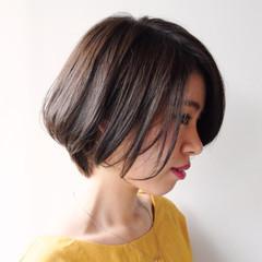 艶髪 ボブ リラックス 秋 ヘアスタイルや髪型の写真・画像