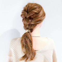 デート ロング フェミニン ヘアアレンジ ヘアスタイルや髪型の写真・画像