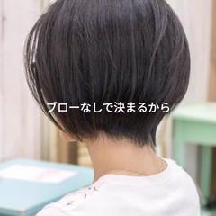 前下がり ミニボブ ナチュラル ショートボブ ヘアスタイルや髪型の写真・画像