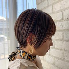 パーマ デート ショート 簡単ヘアアレンジ ヘアスタイルや髪型の写真・画像