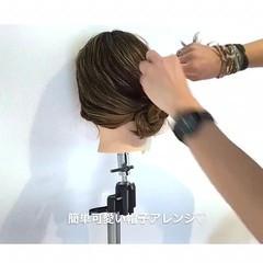 セミロング 女子会 ヘアアレンジ 簡単ヘアアレンジ ヘアスタイルや髪型の写真・画像