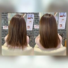 髪質改善トリートメント トリートメント 髪質改善 フェミニン ヘアスタイルや髪型の写真・画像