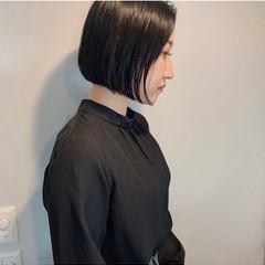 モード ボブ ミニボブ ボブアレンジ ヘアスタイルや髪型の写真・画像