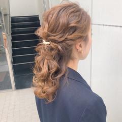 ヘアアレンジ デート アンニュイほつれヘア 簡単ヘアアレンジ ヘアスタイルや髪型の写真・画像