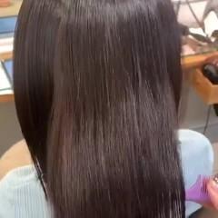 ロング 髪質改善カラー トリートメント うる艶カラー ヘアスタイルや髪型の写真・画像