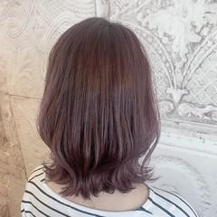 ロブ 外ハネ ガーリー セミロング ヘアスタイルや髪型の写真・画像