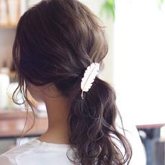 アッシュ ゆるふわ ショート 簡単ヘアアレンジ ヘアスタイルや髪型の写真・画像