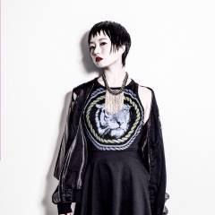 黒髪 ショート モード ベース型 ヘアスタイルや髪型の写真・画像