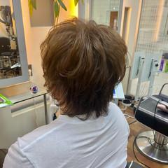 メンズスタイル メンズパーマ オリーブアッシュ ショート ヘアスタイルや髪型の写真・画像