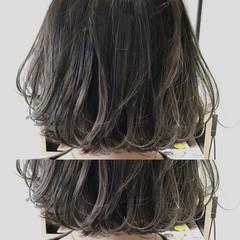 グレージュ ストリート グラデーションカラー ボブ ヘアスタイルや髪型の写真・画像
