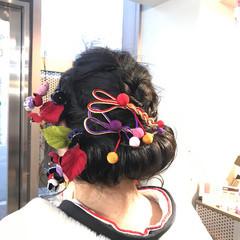 成人式 上品 ミディアム アップスタイル ヘアスタイルや髪型の写真・画像