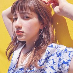 オフィス セミロング ガーリー 簡単ヘアアレンジ ヘアスタイルや髪型の写真・画像