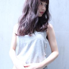 ピュア ゆるふわ ワイドバング 外国人風 ヘアスタイルや髪型の写真・画像