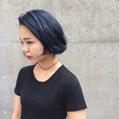 ボブ ストリート ブリーチ ウェットヘア ヘアスタイルや髪型の写真・画像