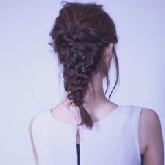 結婚式 セミロング フェミニン デート ヘアスタイルや髪型の写真・画像