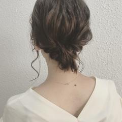 透明感 秋 ヘアアレンジ ナチュラル ヘアスタイルや髪型の写真・画像