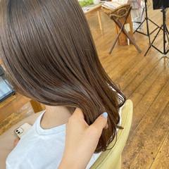 髪質改善 大人女子 ナチュラル ミルクティーベージュ ヘアスタイルや髪型の写真・画像
