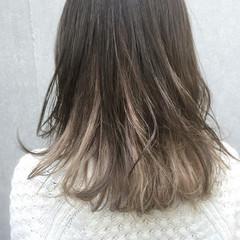 外国人風 ストリート グラデーションカラー ミディアム ヘアスタイルや髪型の写真・画像