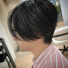 ナチュラル センターパート センター分け ショート ヘアスタイルや髪型の写真・画像