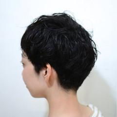 黒髪 ショート ストリート サイドアップ ヘアスタイルや髪型の写真・画像
