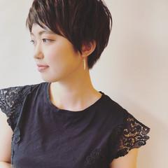 モテ髪 ベリーショート ナチュラル 大人女子 ヘアスタイルや髪型の写真・画像