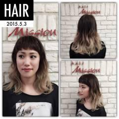 グラデーションカラー 透明感 かわいい ブリーチ ヘアスタイルや髪型の写真・画像