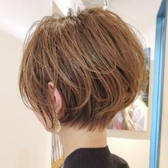 ナチュラル ショートボブ ショートカット ショートヘア ヘアスタイルや髪型の写真・画像
