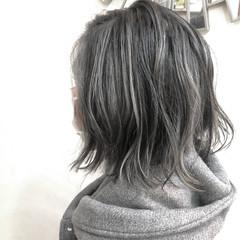 グラデーションカラー ハイトーンカラー ボブ ハイライト ヘアスタイルや髪型の写真・画像