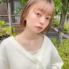 ミニボブ 透明感カラー ナチュラル ショートボブ ヘアスタイルや髪型の写真・画像