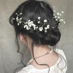 パーティ エフォートレス フェミニン 成人式 ヘアスタイルや髪型の写真・画像