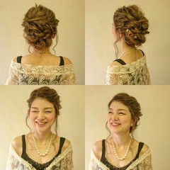 結婚式 ブライダル ゆるふわ ロング ヘアスタイルや髪型の写真・画像