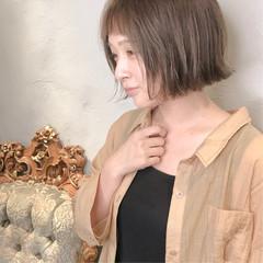 ヌーディーベージュ ミルクティーベージュ ナチュラルベージュ ショート ヘアスタイルや髪型の写真・画像