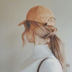 透明感 ストリート ロング 冬 ヘアスタイルや髪型の写真・画像