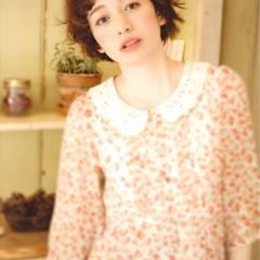 ショート 秋 オン眉 外国人風 ヘアスタイルや髪型の写真・画像
