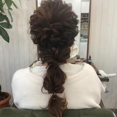 ヘアアレンジ ナチュラル ロング 結婚式 ヘアスタイルや髪型の写真・画像