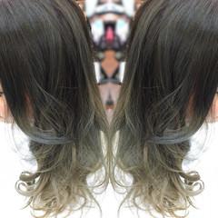 ストリート セミロング マット グラデーションカラー ヘアスタイルや髪型の写真・画像
